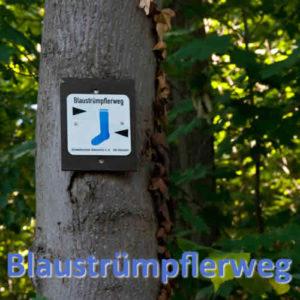 Blaustrümpflerweg Hinweis Schild