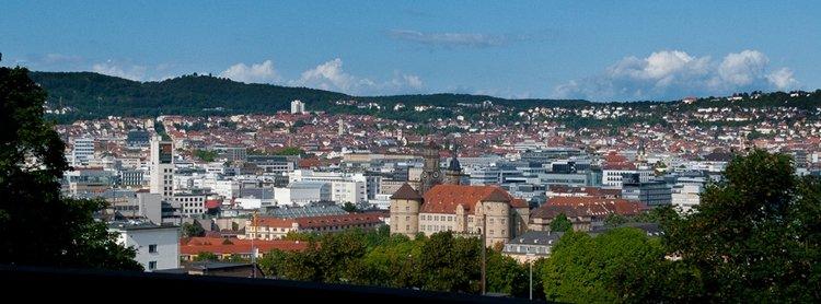 Ausicht Panorama Stuttgart Stadtrallye Wassergeistern